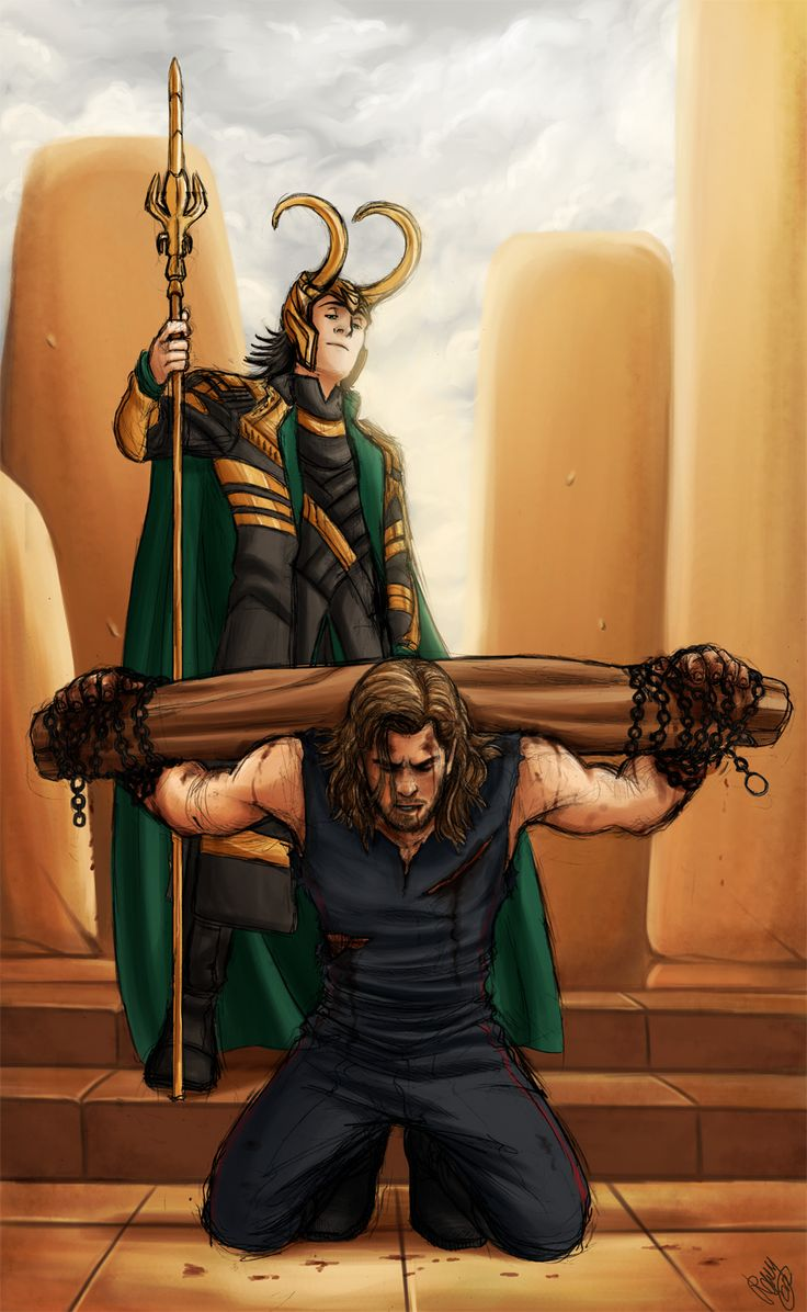 Thor and Loki - Blood Brothers by ~Renny08 on deviantART