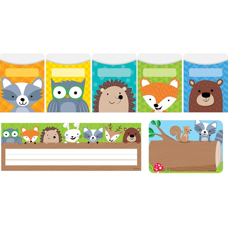 Getting organized doesn't have to be boring! Add some style and color to walls, bulletin boards, doors, or offices.This Woodland Friends name plate features cute woodland creatures (owl, fox, hedgehog, rabbit, raccoon, deer, and bear) peeking out from behind a log. These cute Woodland Friends labels are perfect for name tags and for use as labels around the classroom. Use them as name tags for the first day of school, field trips, open house and back-to-school night, parent visitations, ...