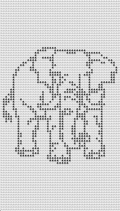 New Free Elephant Filet Crochet Afghan Pattern available © Tina Gibbons
