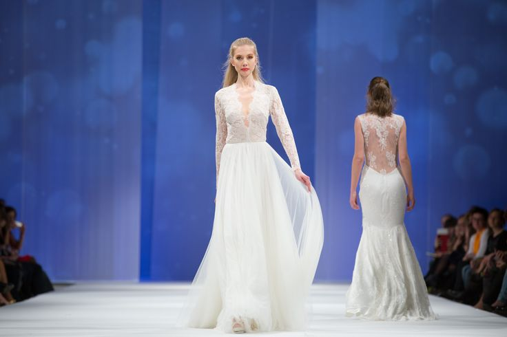Dalarna Couture Pearl collection wool lace and soft tulle wedding gown