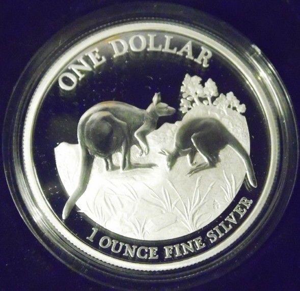 Proof 2014 Kangaroo Series Explorers, First Sightings 1 oz silver coin
