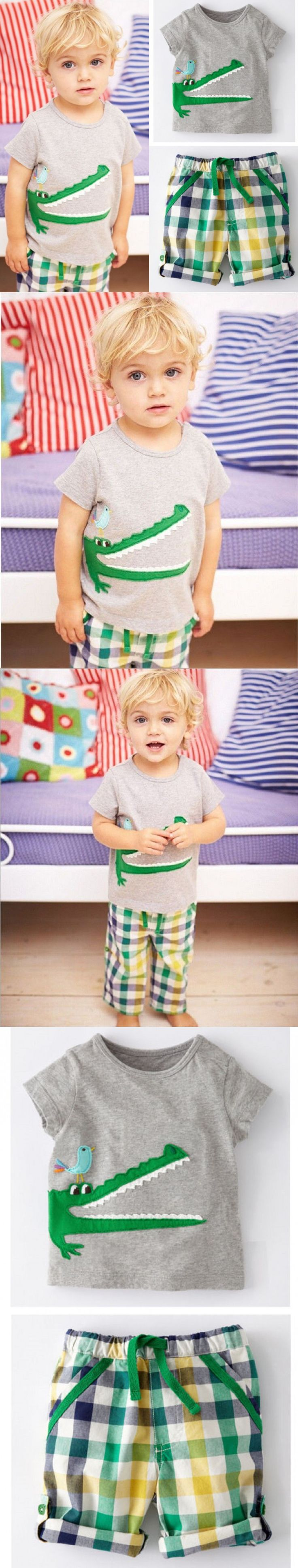 Toddler Baby Kids Boys Summer Clothes Tops T-shirt Pants Outfits Set Size 2T-7T $6.66