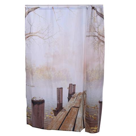 Wooden Walkway Shower Curtain