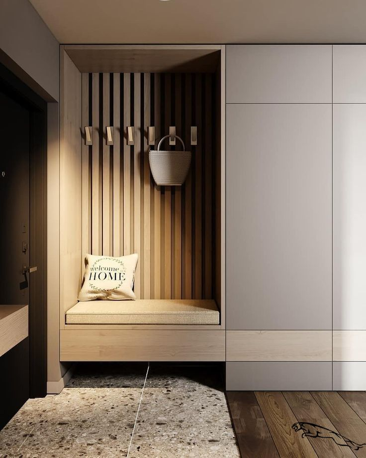 be creative in your hallway | hide shoes in minimalistic way | be gentle on colors | find balance         #eingangsbereich