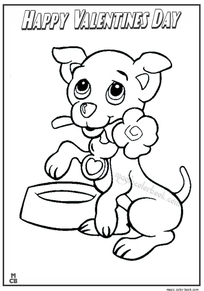 valentines day animals coloring pages - photo#16