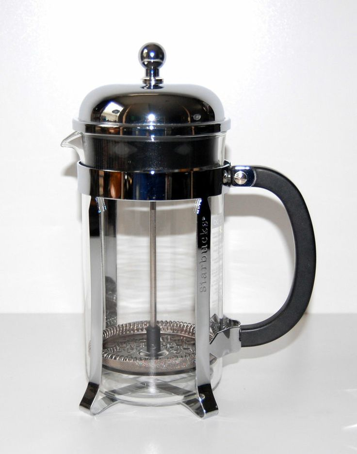 Starbucks bodum french press chrome steel glass coffee - Starbucks bodum french press ...