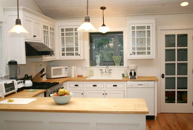 butcher block countertops white cabinets google search