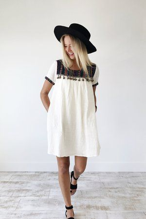 Caribbean Embroidered Dress | ROOLEE
