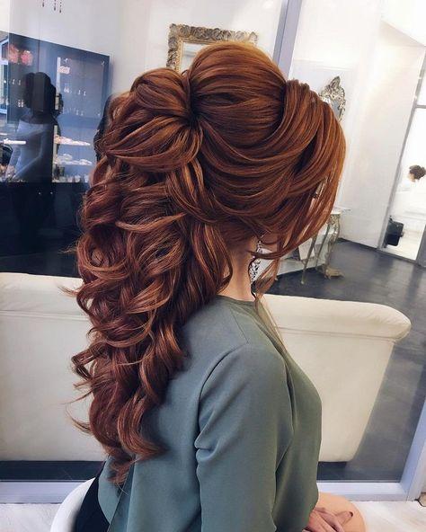 Halb nach oben, halb nach unten Frisur Ideen, Hochzeitsfrisur. Brautfrisuren, Abschlussball …   – Hair