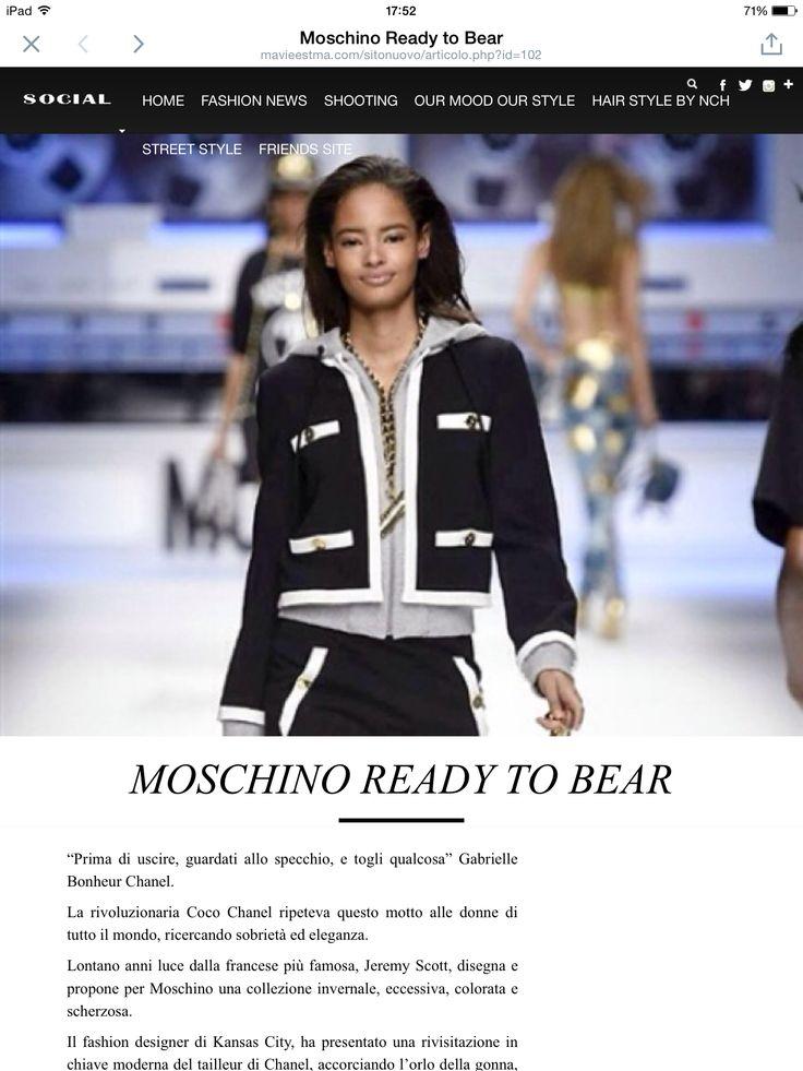 un mio articolo per Maviestma.com Moschino Ready to Bear #moschino #maviestma #mfw http://mavieestma.com/sitonuovo/articolo.php?id=102