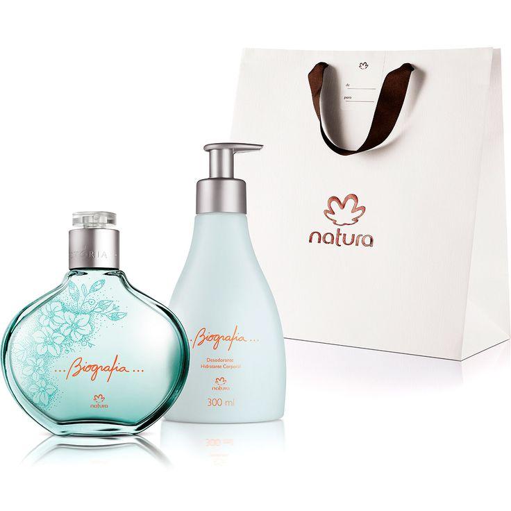 Presente Natura Biografia - Desodorante Colônia Feminino 100ml + Desodorante Hidratante Corporal 300ml + Embalagem - 66241