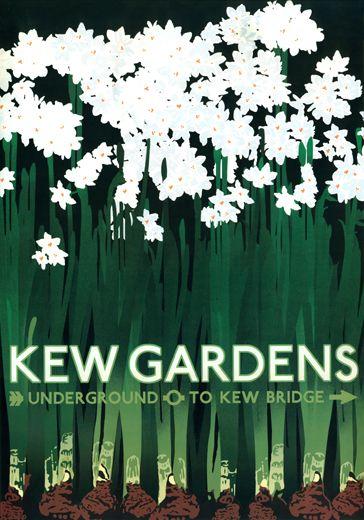 Vintage Kew Gardens Poster