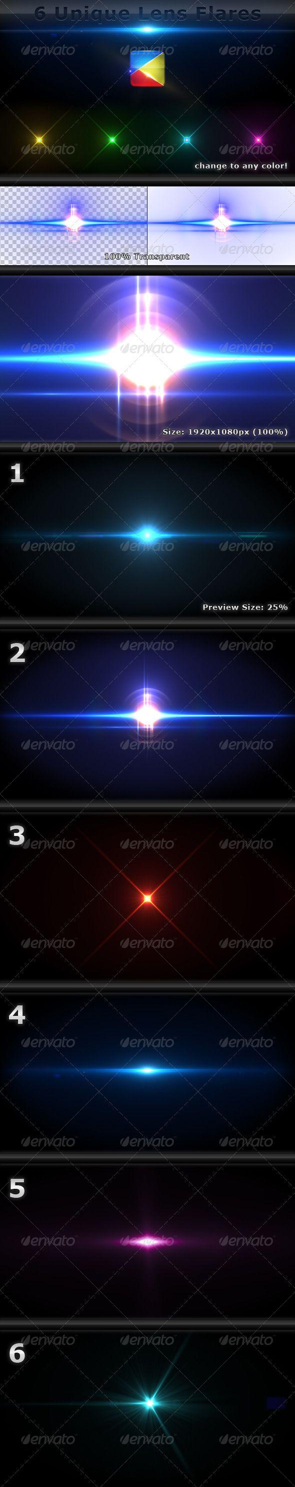 6 Unique Lens Flares - Light Effects -4- - #Decorative #Graphics Download here: https://graphicriver.net/item/6-unique-lens-flares-light-effects-4/1944343?ref=alena994
