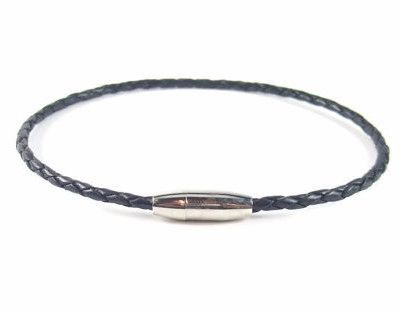 Black Braided Leather Anklet