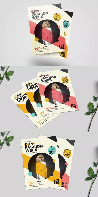 Fashion Week Flyer Template  AI, PSD - A4   #unlimiteddownloads