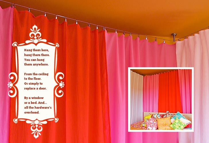 How To Use A Four Poster Bed Canopy To Good Effect: 25+ Best Ideas About Curtain Rod Canopy On Pinterest