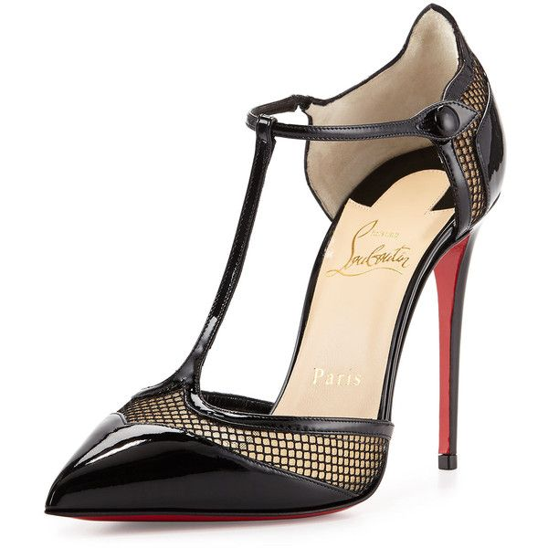 Christian Louboutin Miss Early Patent 100mm Red Sole Pump ($945) ? liked on  Polyvore
