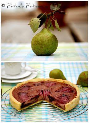 schokoladige Birnen Tarte