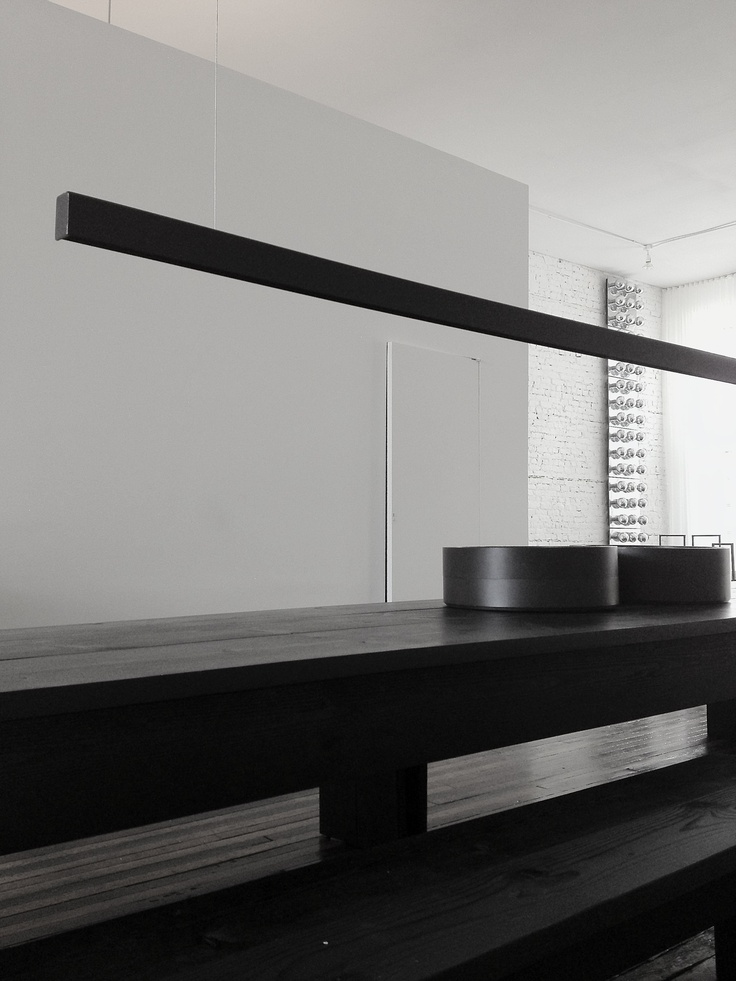 Lukas Machnik Interior Design Dining Room In A Minimalist Space Originally An 1890s Building Linear LightingModern