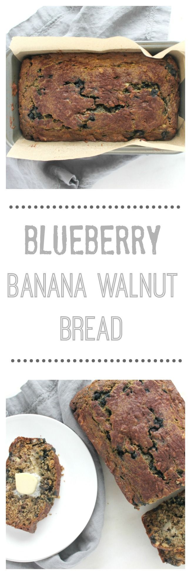 Blueberry Banana Walnut Bread. Wild blueberries, mashed bananas and chopped walnuts folded into a slightly sweet batter and baked to a golden perfection.  #bananabread #healthybreadrecipes #blueberrybananawalnutbread #healthybananabread #TheRecipeReDux #breadrecipes #bananabreadrecipes