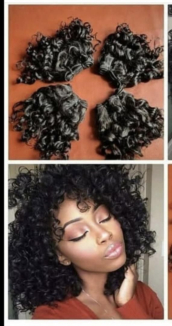 Human hair spanish curls. Combo deal .4 bundles of human hair weave + closure .8-10 inches available