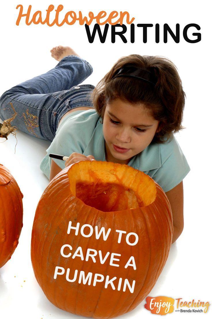 Halloween Writing Carving Pumpkins Enjoy Teaching With Brenda Kovich Halloween Writing Activities Halloween Writing Writing Activities [ 1104 x 736 Pixel ]