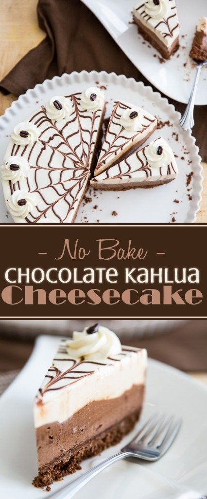 No-Bake Chocolate Kahlua Cheesecake | eviltwin.kitchen                                                                                                                                                                                 More