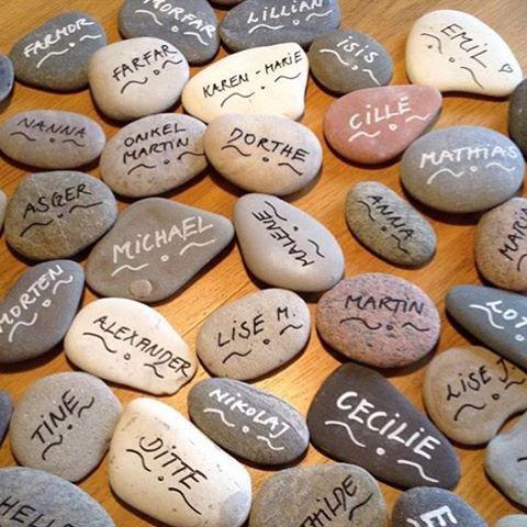 Bordkort af sten