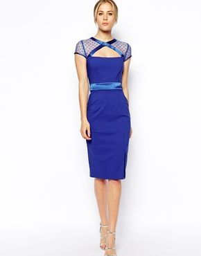 Chase the blues away dress. Tempest GiGi Dress With Mesh Cut Out Neckline #dirtycues