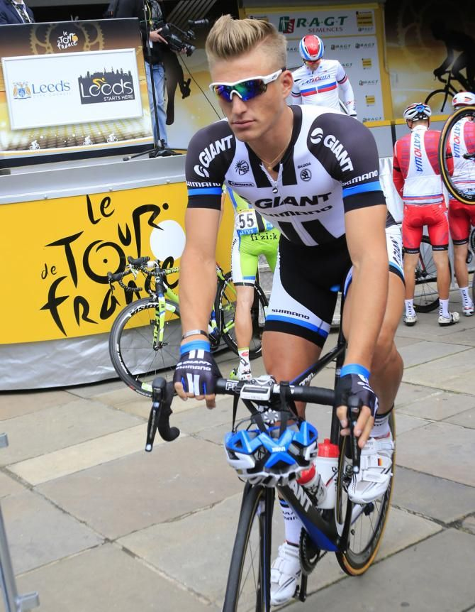 Tour de France 2014 - Stage 1: Leeds - Harrogate 190.5km - Marcel Kittel (Giant Shimano) at the start of stage 1 Photo credit © Roberto Bettini