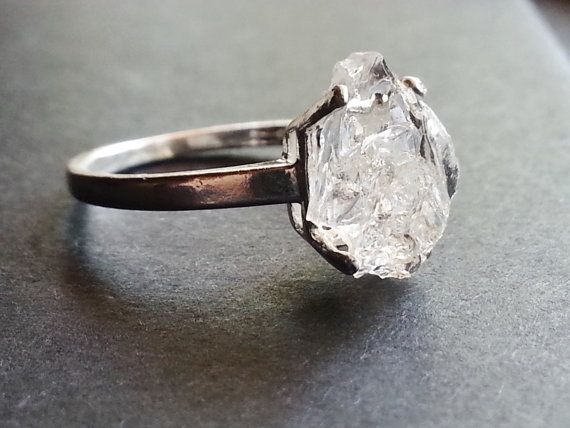 This is so unique & different!! I love it!!  Raw Diamond Ring // Engagement Ring // Rough Diamond by Avello, $108.00