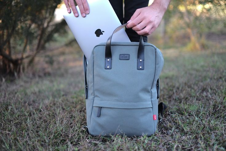 Toffee Centennial Canvas Bag With MacBook & iPad Compartment