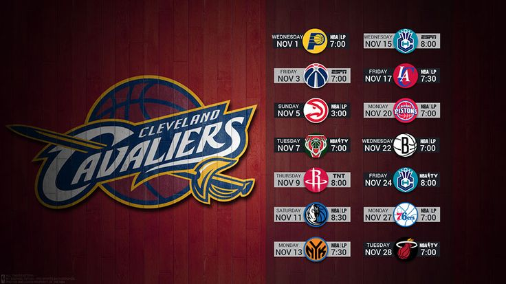 Cleveland Cavaliers 2017 Schedule Wallpaper