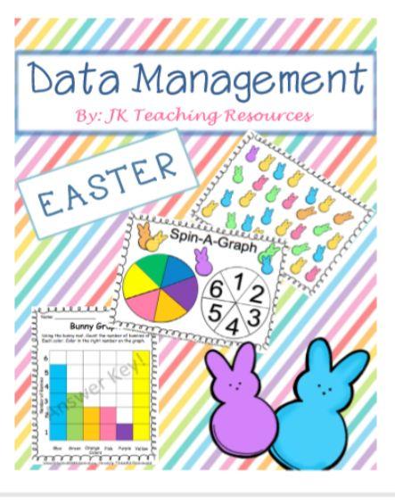Easter themed, data management, math centers, math games.