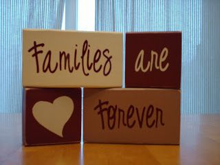 wood craft- families are forever-cute!