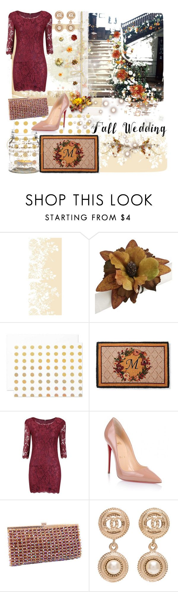 """""""Set 445: Fall Wedding"""" by ussms1107 ❤ liked on Polyvore featuring Timorous Beasties, Reception, Pier 1 Imports, The Pink Orange, Frontgate, Christian Louboutin, Chanel, Cultural Intrigue, contest and WhatToWear"""