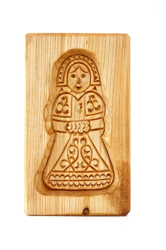 The SNOW MAIDEN. Wooden mold for pryaniki by PryanikiAndCookies