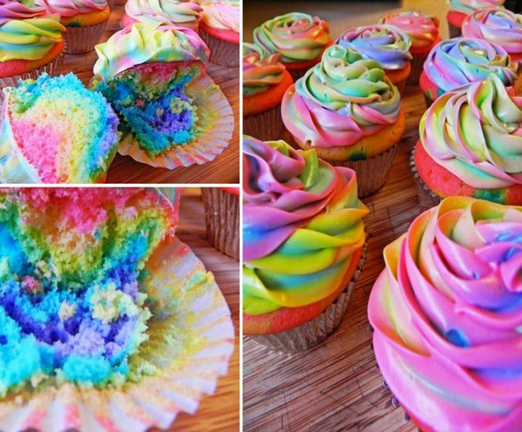 Rainbow Tie Dye Cupcakes!