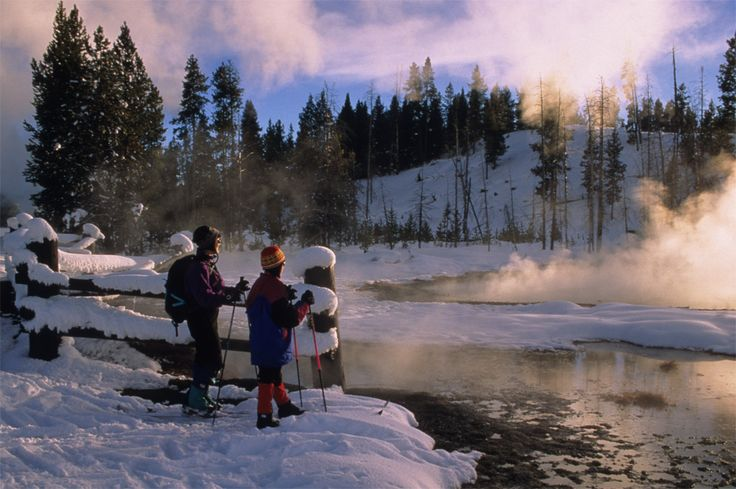 Yellowstone is gorgeous in the Winter months, and there are very few people. Austin Adventures Sets Winter Tours in Yellowstone in December and February