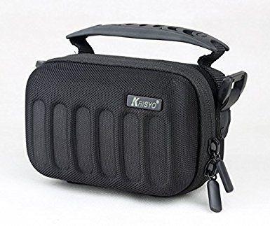 Heavy-duty EVA Hard Camera/ HD Camcorder Shoulder Case Bag Holder For Canon PowerShot G16 SX170IS SX700HS G7X SX710HS SX610HS; Nikon Coolpix A S31 S32 P7800 S33 S9900; Fuji X20 XQ2 XP80; Panasonic DMC LX100 LX7 TZ70 TZ57; Olympus XZ-2 SH-1 SH-60 SH-50 XZ-1 STYLUS 1 SZ-17 TG-4 SH-2; PENTAX MX-1 Ricoh G700 WG-M1; SONY Cyber-shot DSC RX100III HX90V HX90 WX500; For HD DV Camcorder Canon LEGRIA HF R506 R56 R57 R606 R68; Panasonic HC V210 V520 V130 V250 V550 V160 V270; SAMSUNG HMX F80BP Q10BP ...