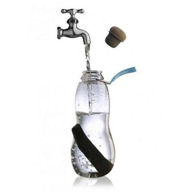 Black + Blum 'Eau Good' Charcoal Water Filter Bottle, Red