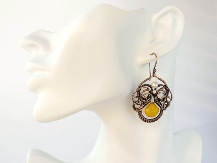 Wire earrings - Morning Glory