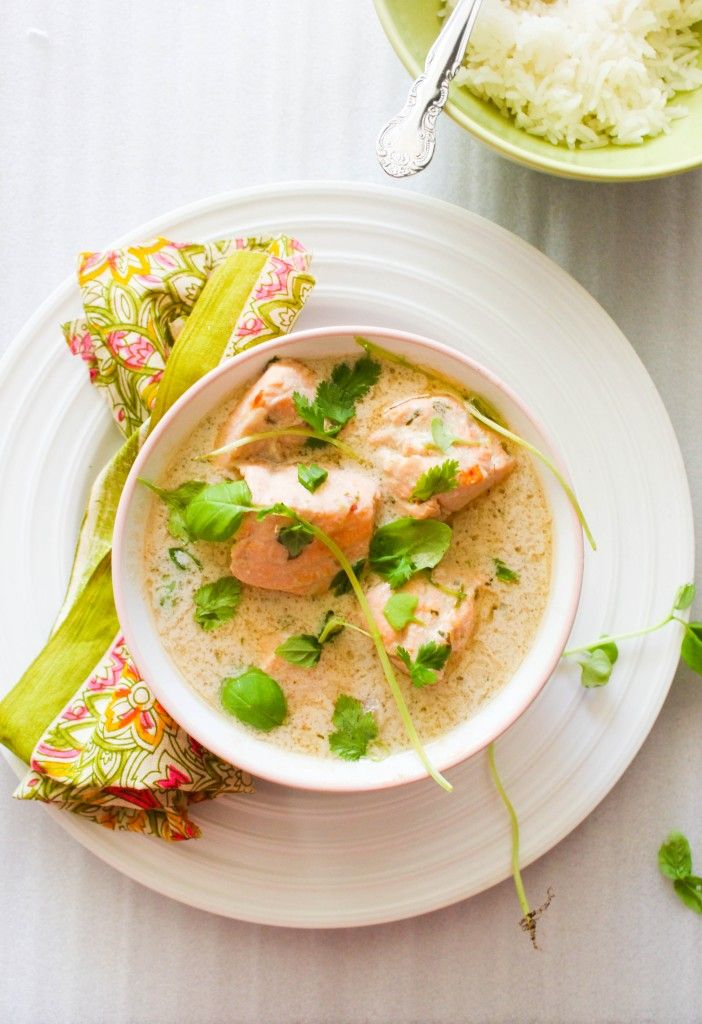 Coconut Poached Salmon (Curry in a Hurry)