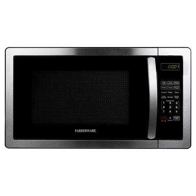 Farberware Classic 1.1 Cu. Ft. 1000 Watt Microwave Oven, Medium Silver