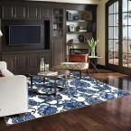 Mohawk Home Arranged Melody Blue 7 ft. 6 in. x 10 ft. Area Rug-002730 - The Home Depot