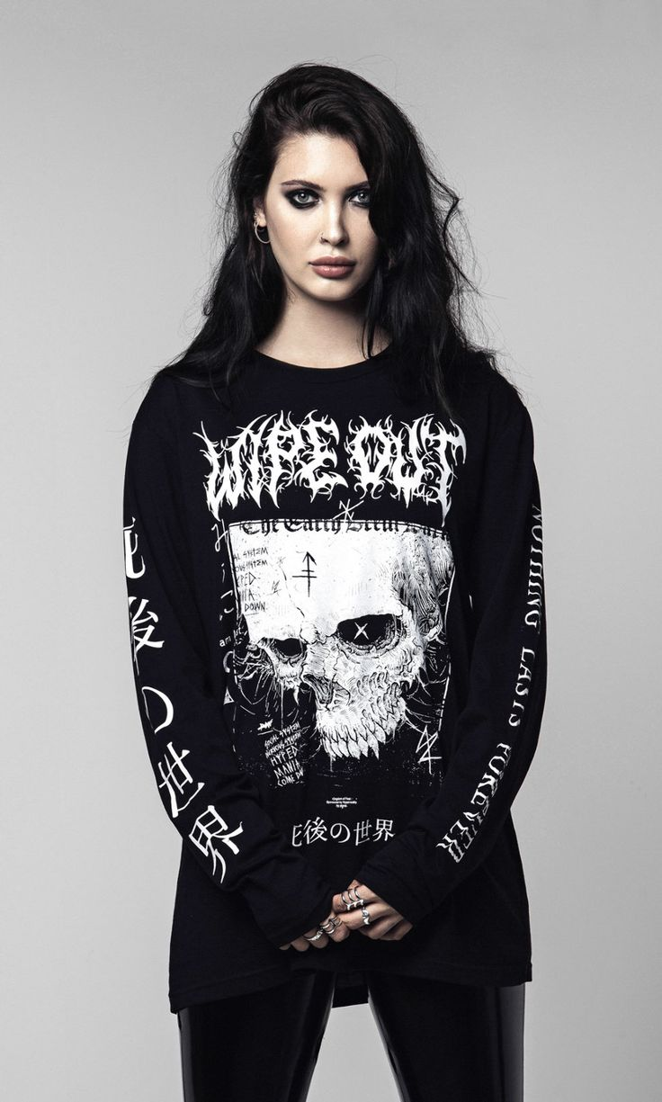 Wipe Out Long Sleeve #disturbiaclothing #disturbia #goth #alien #goth #occult #grunge #alternative #punk #print #2017