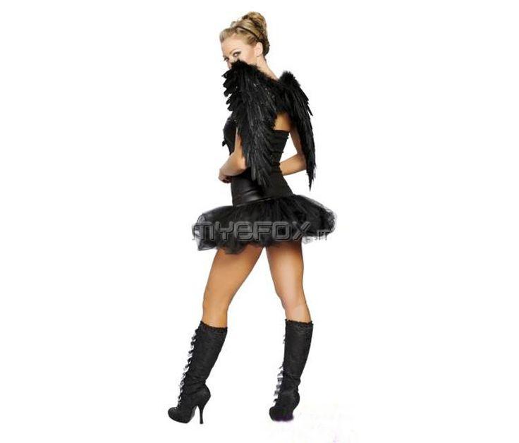 Vestito angelo nero fai da te