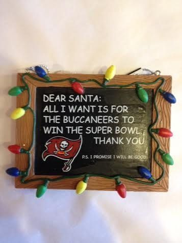 Tampa Bay Buccaneers Christmas Ornament