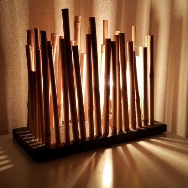 Bambu masa aydınlatması