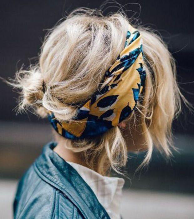 Coiffure rapide et facile: le bandana foulard bohème